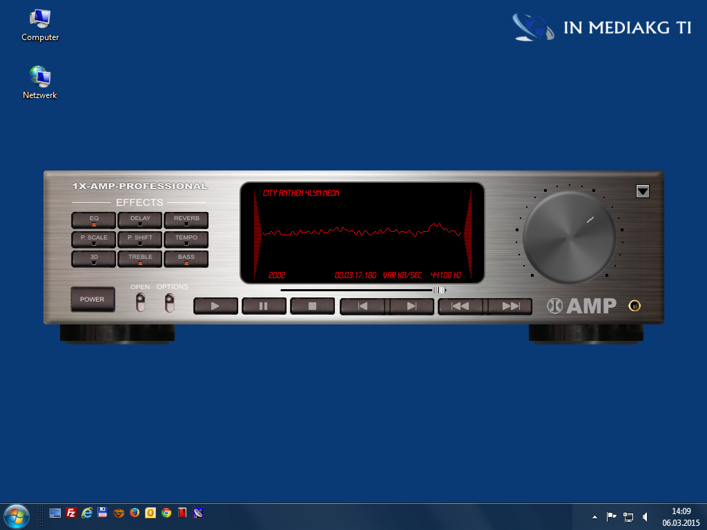 1X-AMP - Virtual Audio Player Screen shot