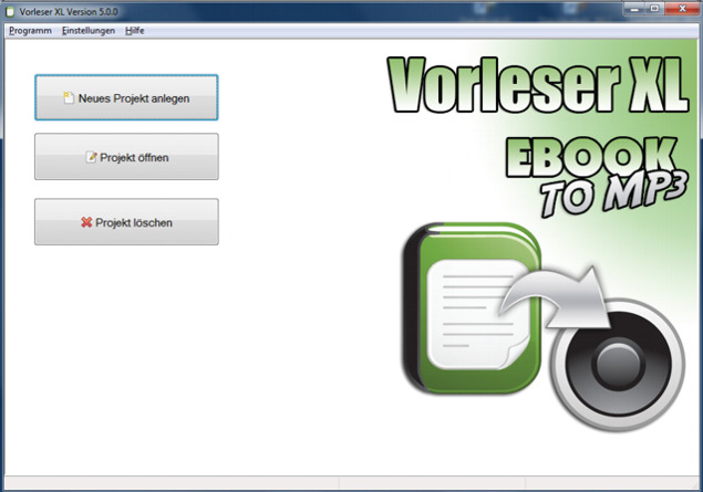 Vorleser XL - EbookToMP3 Screen shot