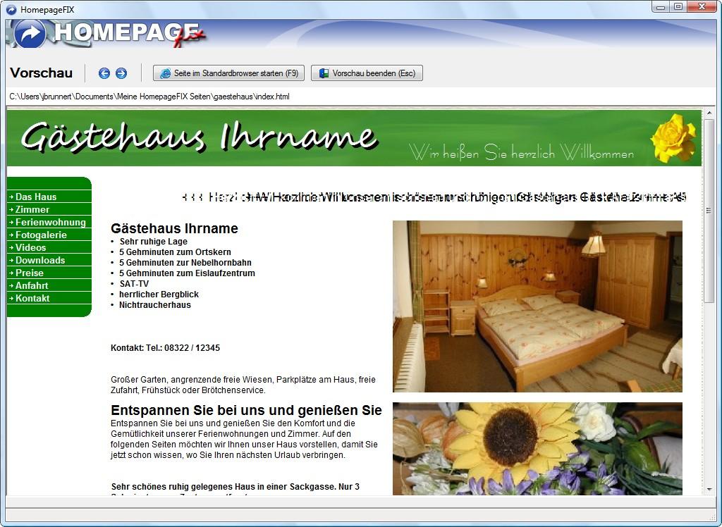 Wie Erstelle Ich Meine Eigene Website eigene internetseite erstellen mit der homepage software