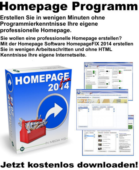 Homepage Design Programm
